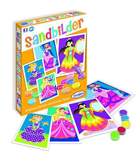 Sentosphere 08980 Sablimage Sandbilder Bastelset für Kinder, Motiv Prinzessinnen, Kreativset, DIY