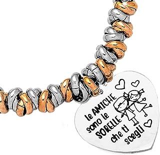 Beloved Bracciale da donna, braccialetto in acciaio emozionale con nodini - frasi, pensieri, parole con charms - ciondolo ...