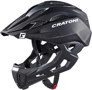 Cratoni Fahrradhelm C-Maniac Freeride L/XL 58-61cm schwarz matt ca. 320g Fahrrad