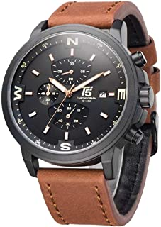 T5 H3474G-C Round Leather Watch for Men