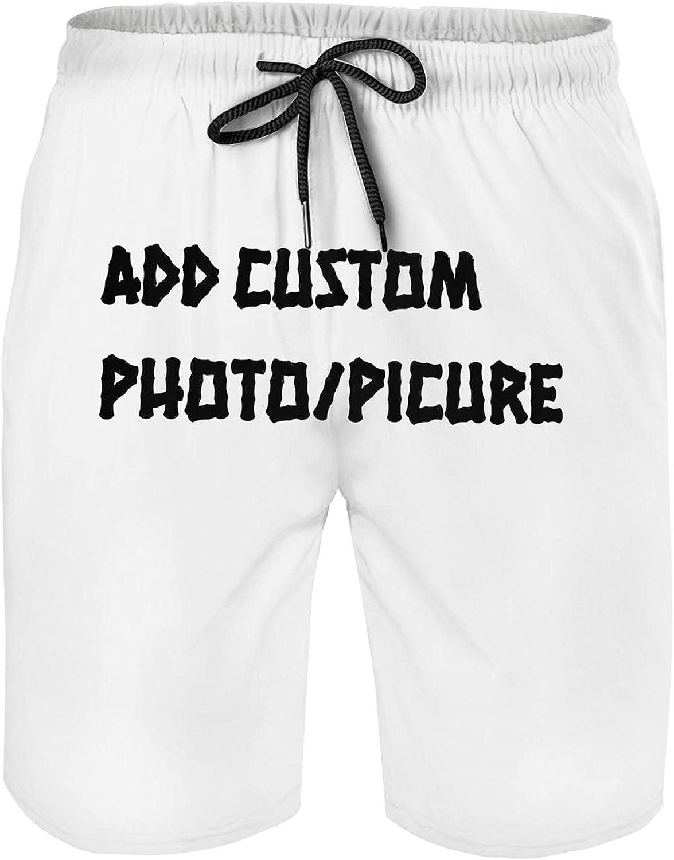 UKSN Custom Men Shorts Personalized Swim Trunk DIY All Over Print Beach Shorts with Pockets