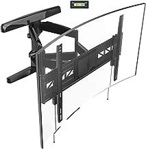 Loctek Curved TV Wall Mount Bracket for 32-70 inch Articulating Full Motion Tilt Swivel Flat and Curved Screen TV