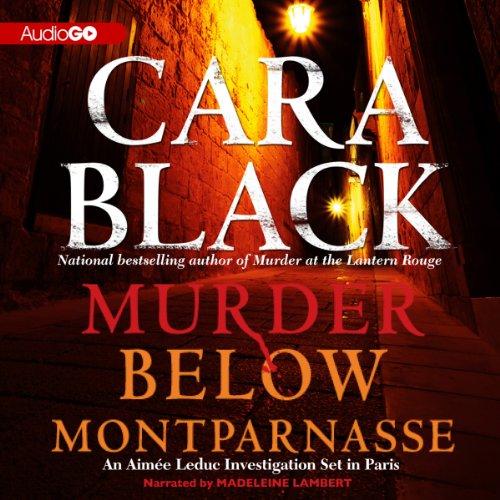 Murder Below Montparnasse audiobook cover art