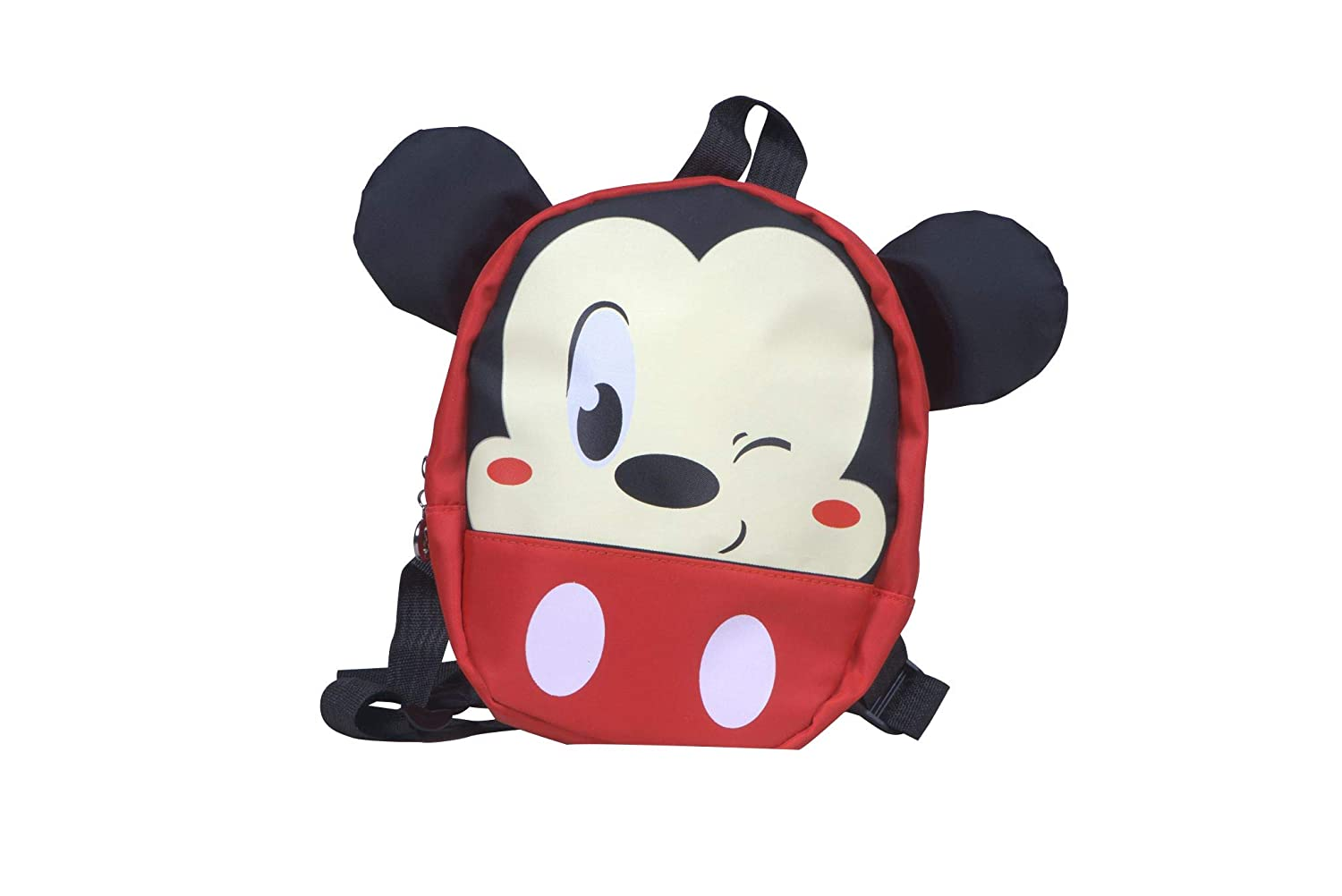 Nonika Toddler Kid Lunch Diaper Weather Resistant Bag with Safety Walking Leash - Super Cute Must Have Item (RoundMickey)