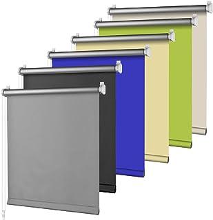 comprar comparacion S SIENOC Klemmfix - Estor Opaco para Ventana Estor Enrollable/Thermo – Estor de Opaco Blackout Blind Silver Coating Opaque...