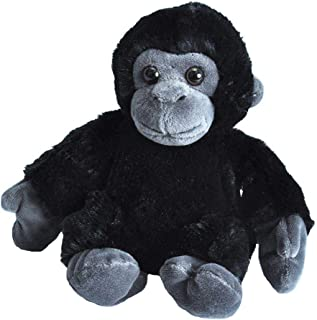 Wild Republic Gorilla Plush, Stuffed Animal Toy, Gifts for Kids, Hug'Ems 7""