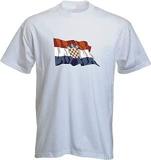 T-Shirt LS42 Flag/Banner Multicolored Croatia - Kroatien with Flag