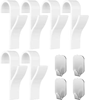 aoory Ganchos para toallero (Pack de 10) – 6 Piezas de Ganchos de plástico ABS para toalleros con radiador, 4 Piezas de Ganchos para Toallas Adhesivos – Mantén tu toallero en Orden