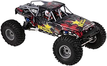 Wesxm 1:10 Large Remote Control Car Alloy Body Professional Competition Rally Car 4WD Strong Horsepower High Speed All Terrain Off-Road Remote Control Racing Car (Color : Red)
