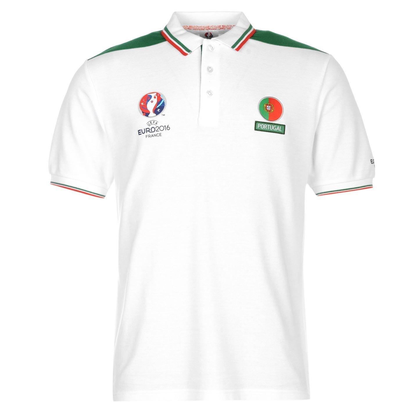 UEFA Euro 2016 Portugal Polo Camisa para Hombre Blanco/Verde de ...
