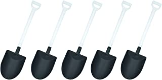oxe Novelty Mini Shovel Shape Spoons Cute Disposable Plastic Dessert Spoons,Set of 50