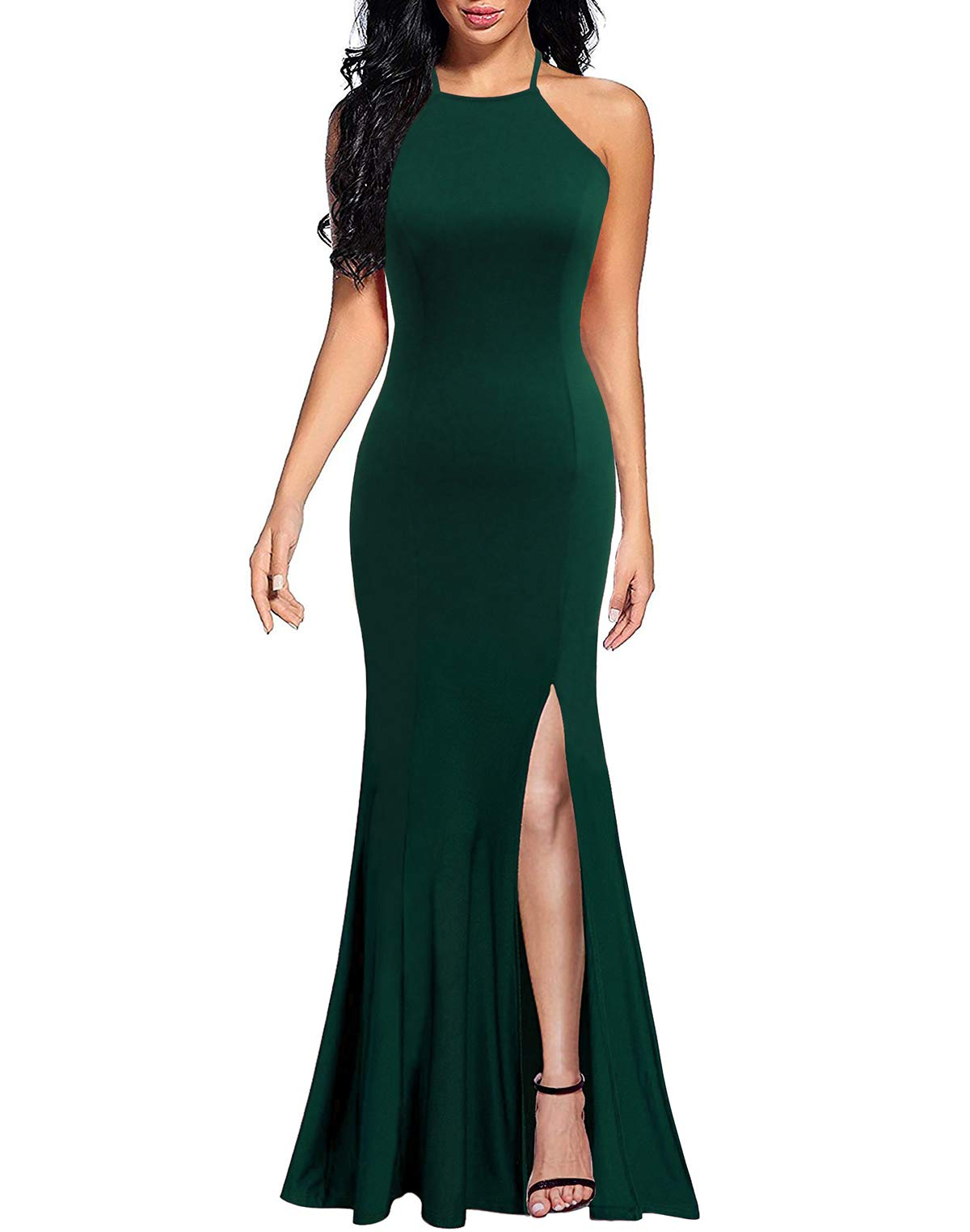 Wedding Guest Dresses - Women's Classic Vintage Tie Neck Formal Cocktail Dress With Pocket