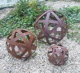 terracotta-toepfe-de Edelrostkugel Kugel Metall 30 cm Eisen Rost