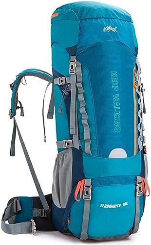 HUIIT Randonnée en Plein air Sac à Dos Sac de Voyage Sac étanche 70 + 5L Grande capacité Camouflage Sac à Dos randonnée randonnée Camping Sac à Dos