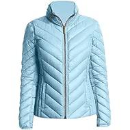Michael Michael Kors Light Blue Chevron Down Hooded Packable