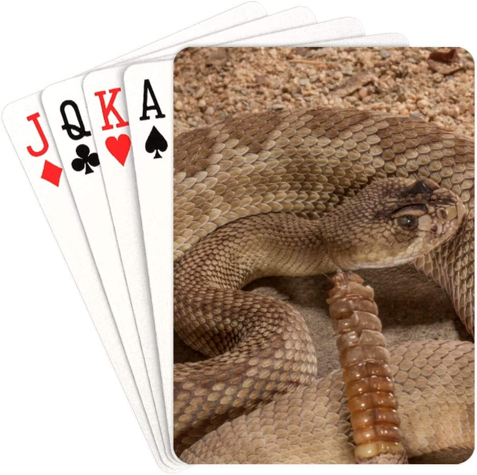 WUTMVING Unique Playing Nippon regular agency Cards 35% OFF Poker Rattlesnake Western