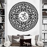 Creativo Retro Buda Indio Redondo Mandala Etiqueta de la Pared Etiqueta de Vinilo extraíble Yoga símbolo Interior decoración del Dormitorio