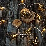 Geburtstagsgeschenk | LED Deko Lampe Halloween Dekoration LED Eisen Kunst 3M 10 LED Gartenhaus Fee hängende Lichterketten Halloween Dekor Eisen Kürbis Schwarzes Spinnennetz 2 Meter 10 Lichter
