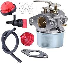Savior Carburetor 640084 with Gasket Fuel Pump Line Filter Clamps Shut Off Valve for Tecumseh HSSK50 HSSK55 LH195SA Craftsman Toro Carb Snow Bolwer 640084A 640084B 632107 632107A