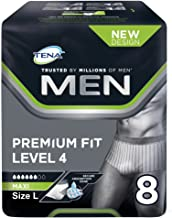 TENA - Premium Fit - Level 4 - Ropa interior protectora para hombre, grande (95 a 125 cm)
