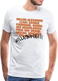 Spreadshirt Willempie Willem Grappige Koningsdag Mannen Premium T-shirt