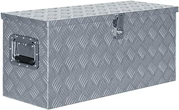 vidaXL Doos 80x30x35 cm Aluminium Zilverkleurig Opbergkist Trailerbox Box