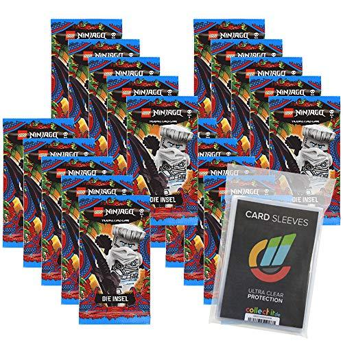 Lego Ninjago - Serie 6 Trading Cards - 20 Booster + Collect-it Hüllen Sleeves - Deutsch