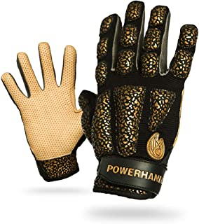 POWERHANDZ Weighted Exercise Gloves for Strength and Resistance Fitness Training - Non Slip, Pure Grip Heavy Weight Lifting Gym Gloves