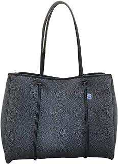 Solarena Denim Grey Neoprene Tote Handbag