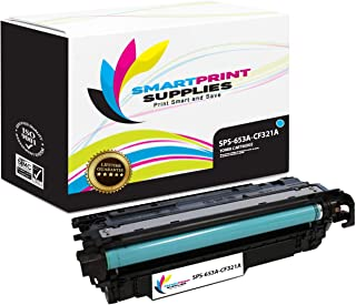 Smart Print Supplies Compatible 653A CF321A Cyan Toner Cartridge Replacement for HP Laserjet M675 M680 Printers (16,500 Pages)