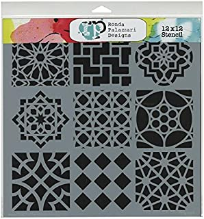 CRAFTERS WORKSHOP TCW-385 Template, 12 by 12-Inch, Moroccan Tiles