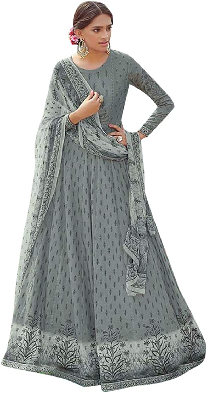Digital Printed Satin Cotton Anarkali suit Ethnic wear Festive Casual Long dress 7212 2