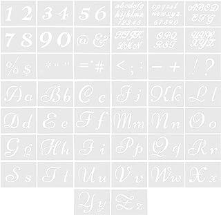 PH PandaHall レター 数字 44シート ステンシル プラスチック アルファベット テンプレート DIY 図面テンプレート サイン付き 木質プラスチック生地ロックサイネージガーデンフラッグの塗装用