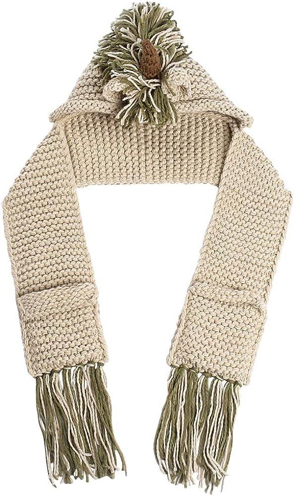 Wiwsi Warm Hat Scarf Set Animals Elk Beanie Knitted Caps for Children Boys Kids