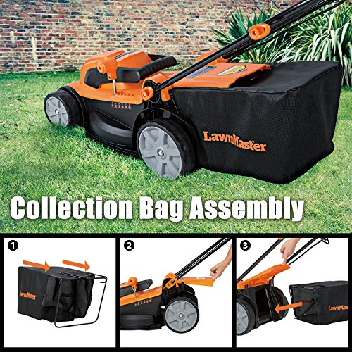 LawnMaster MEB1014K Electric Corded Lawn Mower 15-Inch 11AMP