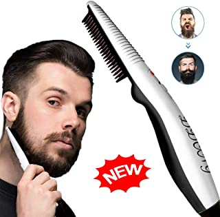 Beard Straightener Comb,Quick Electric Heated Beard Brush Beard Styler for Men, Travel Portable Styling Comb beard iron, Multifunctional Hair Straightening Brush
