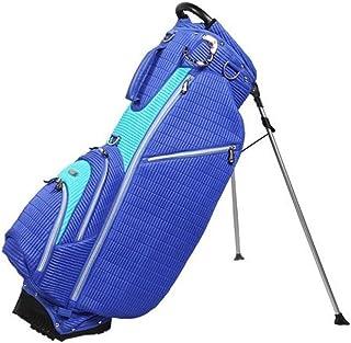 OUUL Ribbed 5 Way Stand Bag, Violet/Light Blue