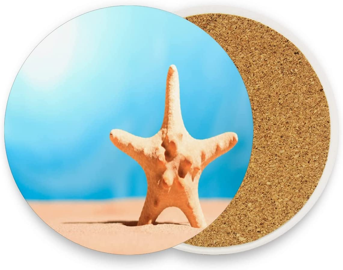 Funny Coasters for Limited time cheap sale Drinks Absorbent On Seaside Regular discount Sp Starfish Drink