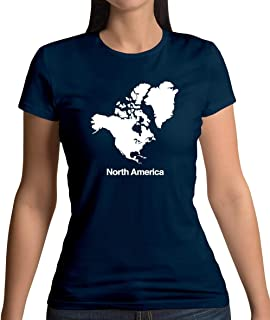 North America Silhouette - Womens T-Shirt - 13 Colours