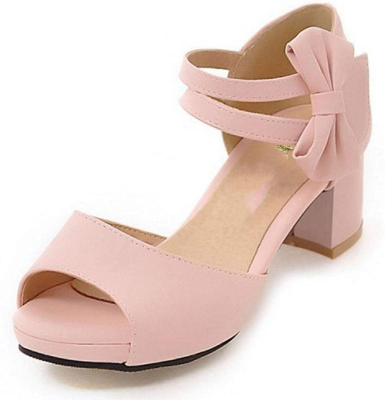Fantasy-purplec Women shoes Women Sandals Squared Heels Bowtie Bowknot Ankle Strapped Peep Toe Fashion Footwear