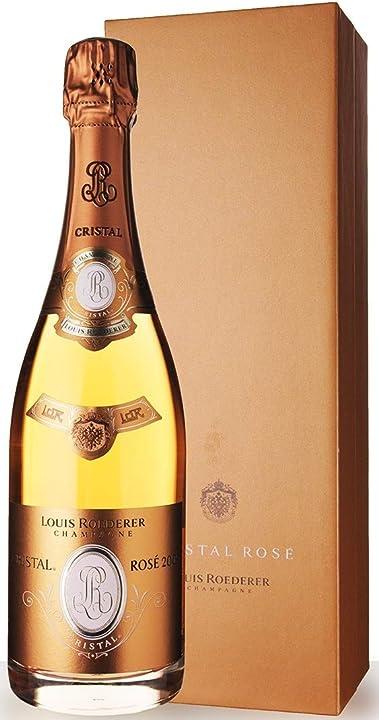 Champagne cristal rosè 0,75 lt  louis roederer 8357
