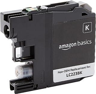 Amazon Basics Cartouche à jet d'encre capacité standard reconditionnée de rechange pour Brother LC223, Noir, Standard