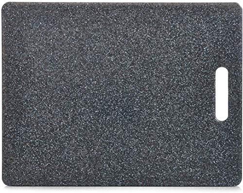 Zeller 26057 Tagliere Granitoptik, Grigio, 36.5x27.5x0.8 cm