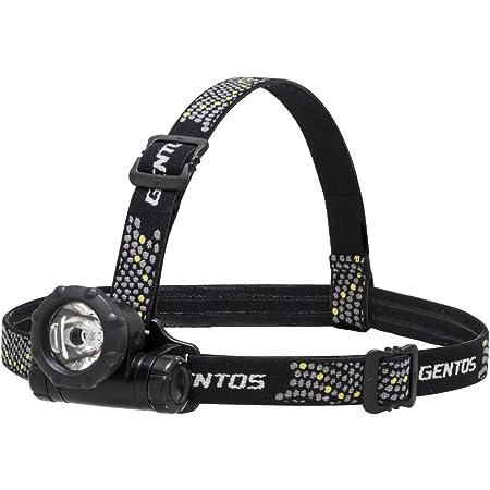 GENTOS(ジェントス) LED ヘッドライト 小型 【明るさ80ルーメン/実用点灯12時間】 単3形電池1本使用 GTR-831D ANSI規格準拠