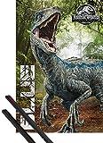 1art1 Jurassic World Póster (91x61 cm) El Reino Caído, Blue Y 1 Lote De 2 Varillas Negras