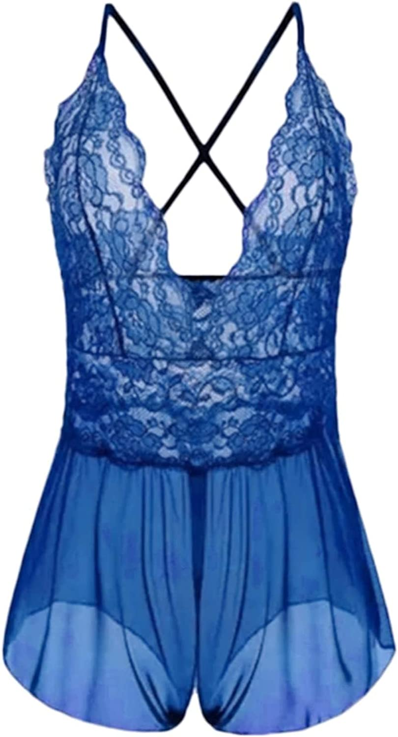 Women Lingerie Sexy V Neck Satin Sleepwear 2021 spring and summer new Lace Max 43% OFF Chemis Nightwear