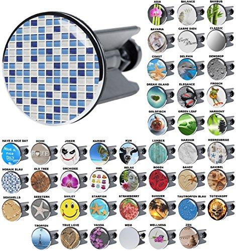 Waschbeckenstöpsel Mosaik Blau, viele schöne Waschbeckenstöpsel zur Auswahl, hochwertige Qualität ✶✶✶✶✶