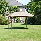 greemotion Pavillon Lincoln - Gartenpavillon 3x3 m Partyzelt/Festzelt Braun Gartenzelt mit Metall-Rahmen - Pavillondach beschichtet