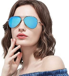 Fashion Color Film Driving Fishing Outdoor Sports Riding Tourism Beach Polarized Sunglasses UV400 Protection Men's/Women's Ultra-Thin Ultra-Light Frame Sunglasses Retro (Color : Blue)