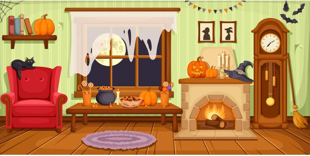 Sale special price DORCEV 15x8ft Cartoon Witch Home New sales Backdrop Ph Halloween Party for